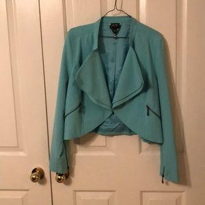 Tiffany Blue Cropped Jacket - Nicole